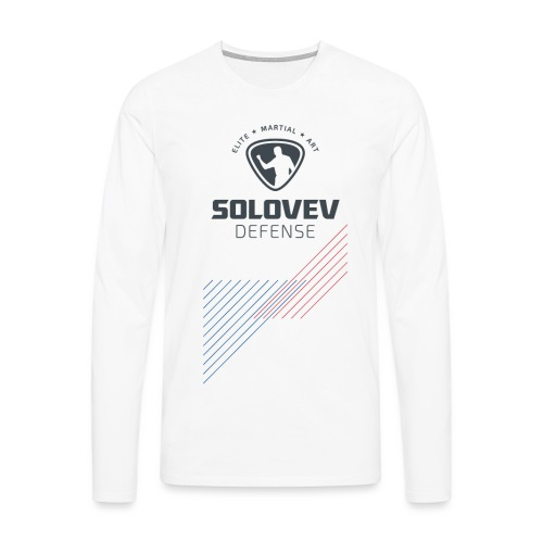 Long Sleeve Shirt Stripes Color Print Men - Männer Premium Langarmshirt