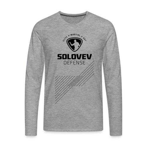 Long Sleeve Shirt Stripes Black Print Men - Männer Premium Langarmshirt