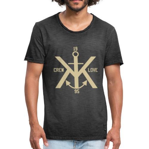 KK CREW LOVE ANKER SHIRT MEN - Männer Vintage T-Shirt
