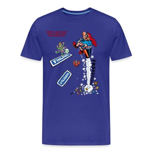 Men's/Unisex T-Shirt - 2018 World Fart Championships t-paita miehille/unisex, vapaavalintainen väri - Miesten premium t-paita