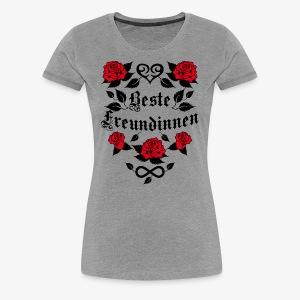 Beste Freundinnen Tattoo Herz rote Rosen T-Shirt 41 - Frauen Premium T-Shirt