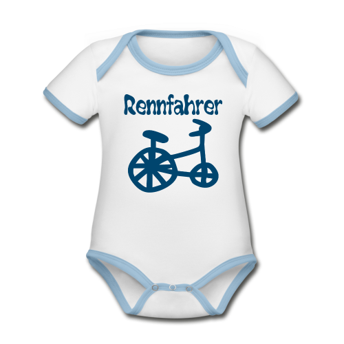 RENNFAHRER DREIRAD - Baby Bio-Kurzarm-Kontrastbody
