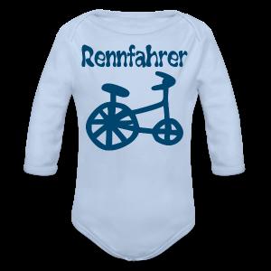 RENNFAHRER DREIRAD - Baby Bio-Langarm-Body