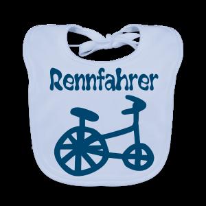 RENNFAHRER DREIRAD - Baby Bio-Lätzchen