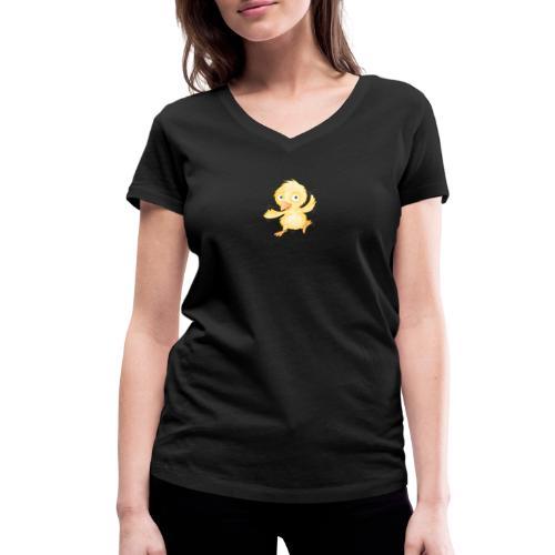 fröhliches Küken - Frauen Bio-T-Shirt V-Ausschnitt - Frauen Bio-T-Shirt mit V-Ausschnitt von Stanley & Stella