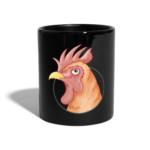 stolzer Hahn - Tasse farbig - Tasse einfarbig