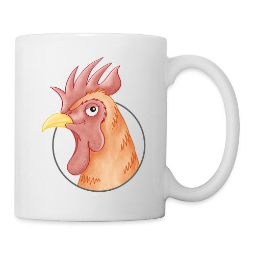 stolzer Hahn - Tasse weiß - Tasse