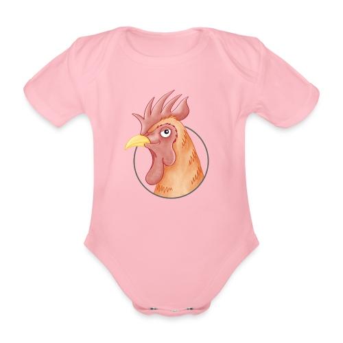 stolzer Hahn - Baby Bio-Kurzarm-Body - Baby Bio-Kurzarm-Body