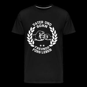 Vater und Sohn Freunde fürs Leben - Lorbeerkranz - Männer Premium T-Shirt