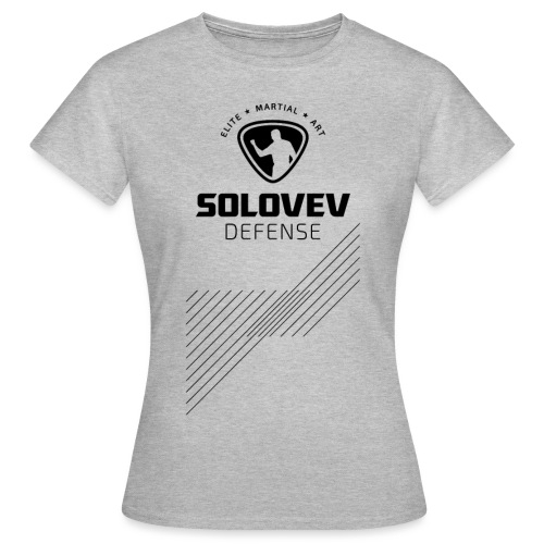 T-Shirt Stripes Black Print Women - Frauen T-Shirt
