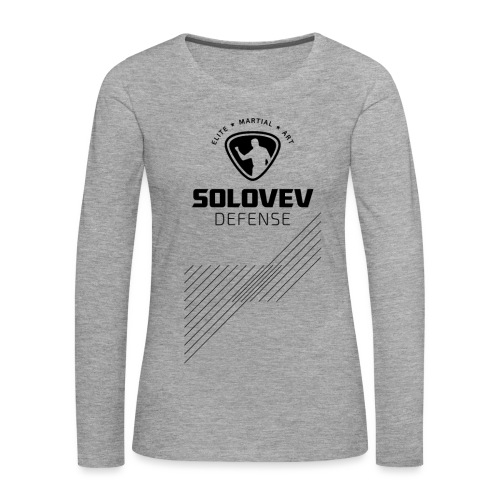 Long Sleeve Shirt Stripes Black Print Women - Frauen Premium Langarmshirt