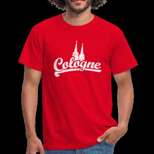 Cologne Dom Classic (Vintage Weiß) Köln Design mit Kölner Dom - Männer T-Shirt