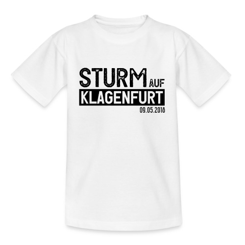 Sturm auf Klagenfurt 09.05.2018 Kindershirt weiß - Kinder T-Shirt