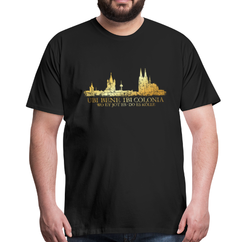 Kölner Skyline (Vintage) mit römischem Köln Spruch - Männer Premium T-Shirt