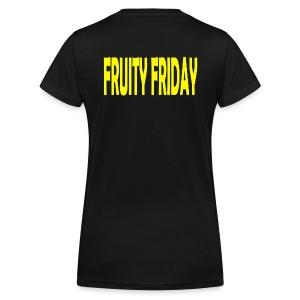 Fruity Friday - Women's Organic V-Neck T-Shirt by Stanley & Stella