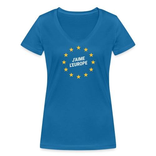 Shirt J'aime l'europe - Frauen Bio-T-Shirt mit V-Ausschnitt von Stanley & Stella