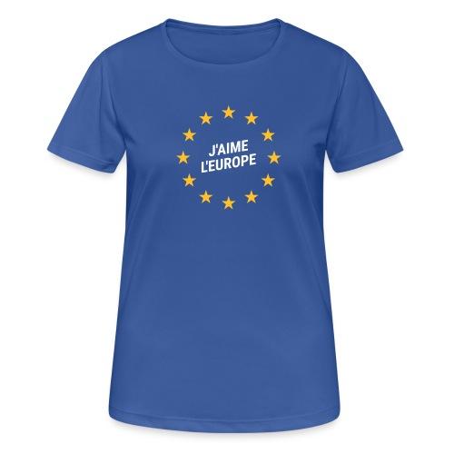 Shirt J'aime l'europe - Frauen T-Shirt atmungsaktiv