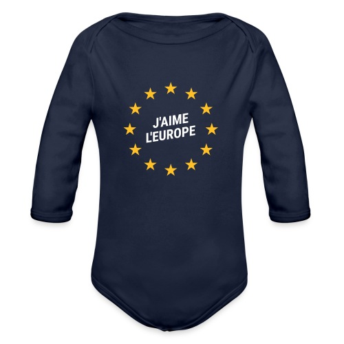 Strampler J'aime l'europe - Baby Bio-Langarm-Body