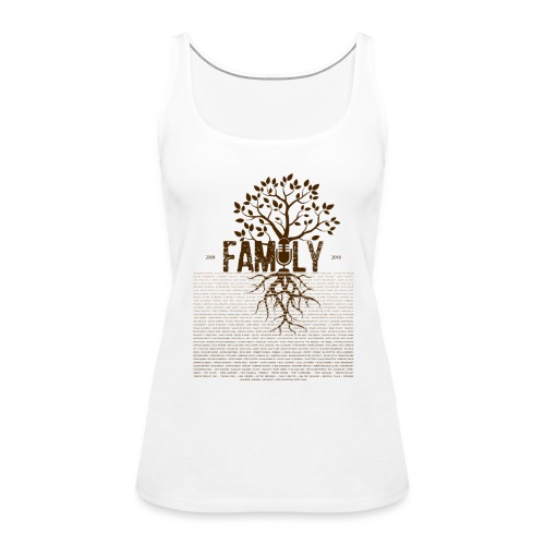 VBFamilyTree FEMALE Vest (DARK Garments) - Women's Premium Tank Top