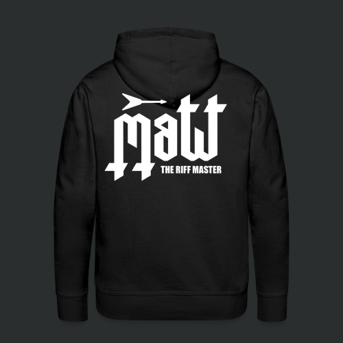 Matt The Riff Master Logo Hoodie - Men's Premium Hoodie