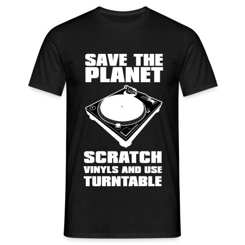 T-shirt homme scratch vinyls recto verso - T-shirt Homme