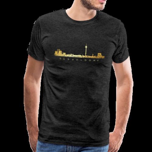 Düsseldorf Skyline T-Shirt (Vintage Gold) - Männer Premium T-Shirt
