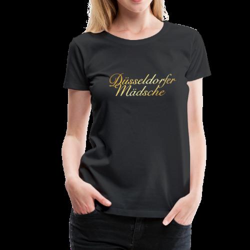 Düsseldorfer Mädsche T-Shirt (Gold) - Frauen Premium T-Shirt