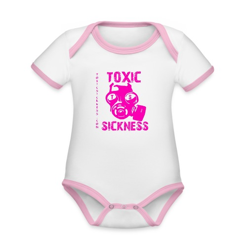 NEW Toxic Sickness Baby Girl Romper Suit - Organic Baby Contrasting Bodysuit