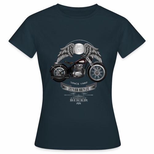 Tshirt Femme American Biker - T-shirt Femme