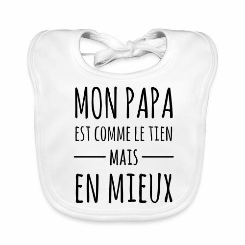 Bavoir Papa - Bavoir bio Bébé