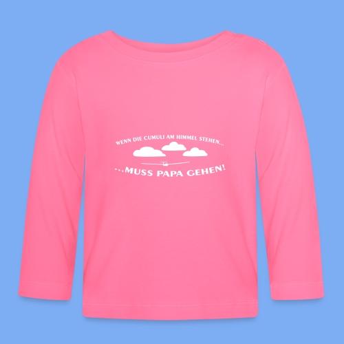 Segelflieger Wolkenstraße Baby Flugplatzkind Geschenk - Baby Long Sleeve T-Shirt