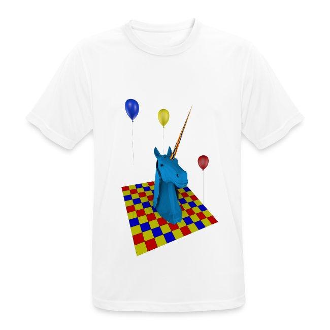 camiseta hombre transpirable Unicornio party