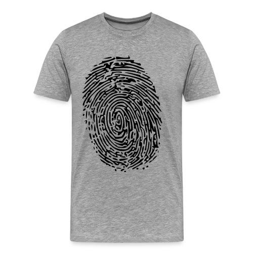 Fingerprint grau Mann S - Männer Premium T-Shirt