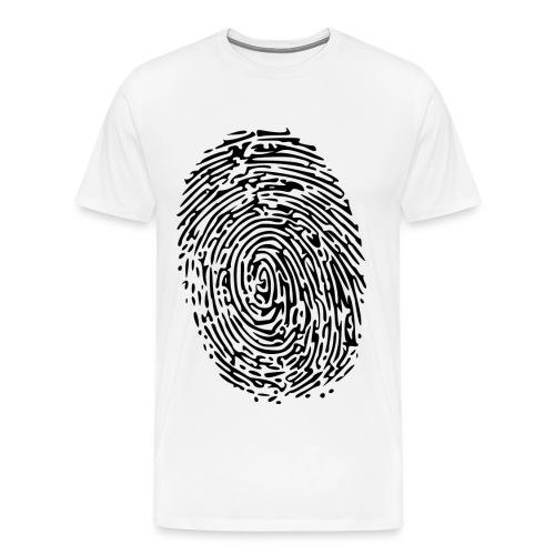 Fingerprint weiß Mann L - Männer Premium T-Shirt