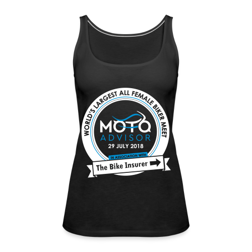 Women's Black Vest - Women's Premium Tank Top