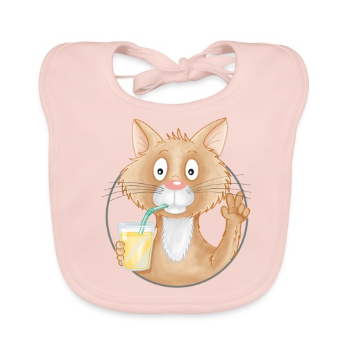 Katze mit Limonade - Baby Bio-Lätzchen - Baby Bio-Lätzchen