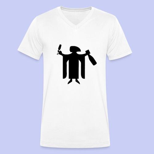 Münchner Drink-Kindl ShirtT - Männer Bio-T-Shirt mit V-Ausschnitt von Stanley & Stella