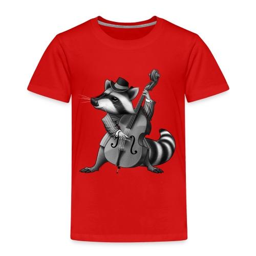 Racoon Musician - Kinder Premium T-Shirt