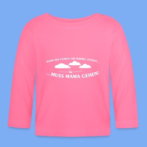 Segelflieger Wolkenstraße Baby Flugplatzkind Geschenk Mama - Baby Long Sleeve T-Shirt
