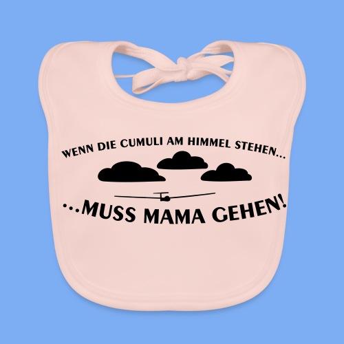 Segelflieger Wolkenstraße Baby Flugplatzkind Geschenk Mama - Baby Organic Bib