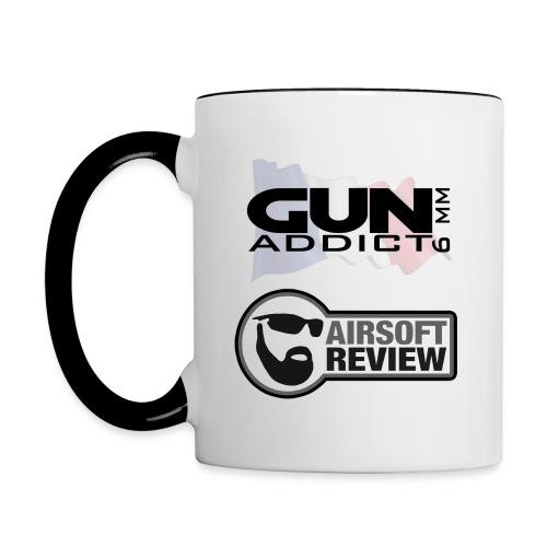 MUG GUN ADDICT FR - Mug contrasté