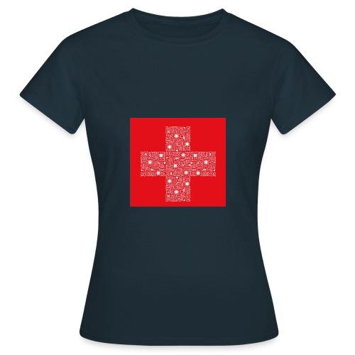 Schweizerfahne Computerplatine - Frauen T-Shirt