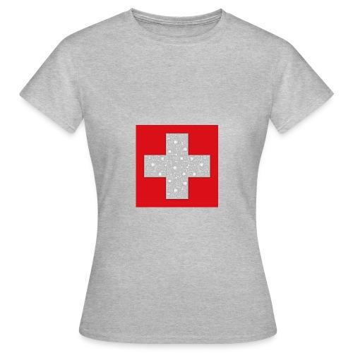 Transistoren auf Schweizerflagge - Frauen T-Shirt