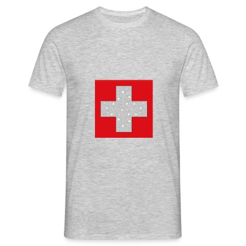 Transistoren auf Schweizerflagge - Männer T-Shirt