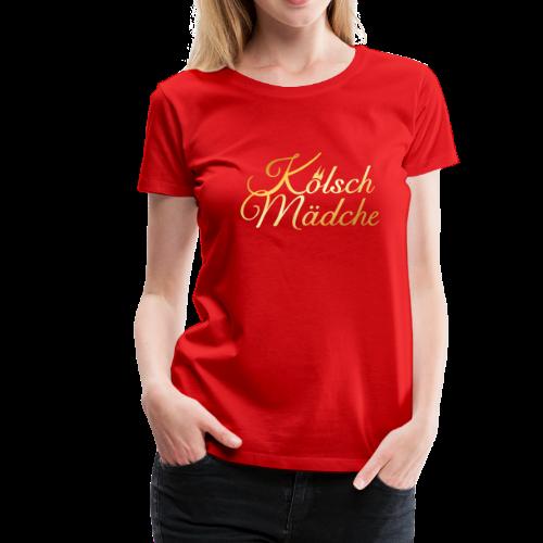 Kölsch Mädche T-Shirt (Gold) - Frauen Premium T-Shirt