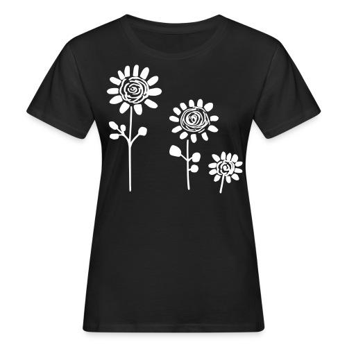Chic Flower Dream In White - Frauen Bio-T-Shirt