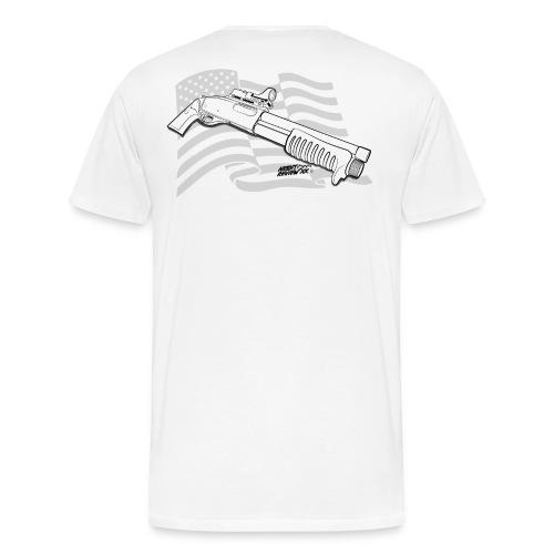 GUN ADDICT 6 MM BREACHER TEE-SHIRT BLANC US - T-shirt Premium Homme