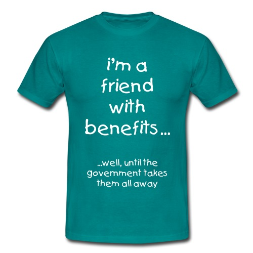 i'm a friend with benefits -  MEN  - Men's T-Shirt