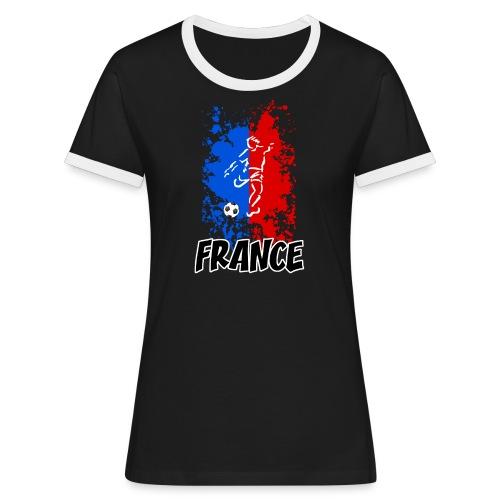 Football tricolore - Women's Ringer T-Shirt
