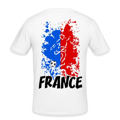 Football tricolore - Men's Slim Fit T-Shirt